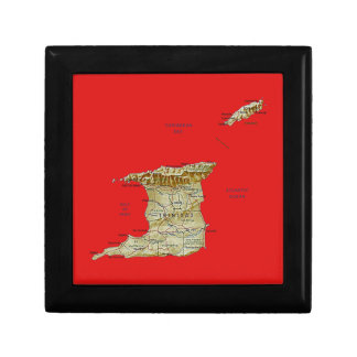トリニダードトバゴの地図のギフト用の箱 ギフトボックス