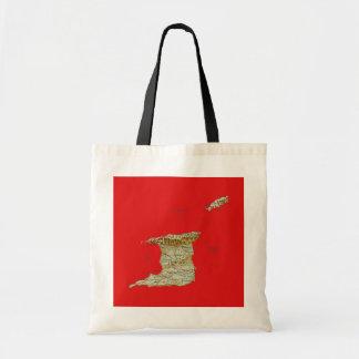 トリニダードトバゴの地図のバッグ トートバッグ