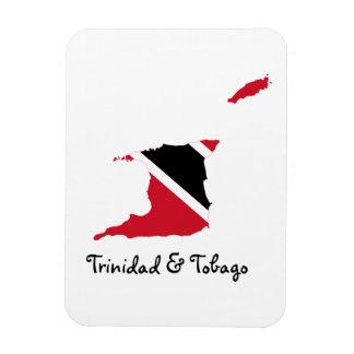 トリニダードトバゴの旗の地図 マグネット