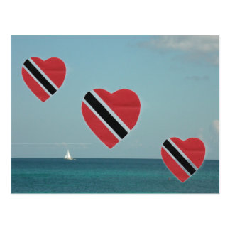 トリニダードトバゴの旗 ポストカード