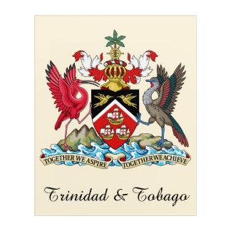 トリニダードトバゴの紋章付き外衣 アクリルウォールアート