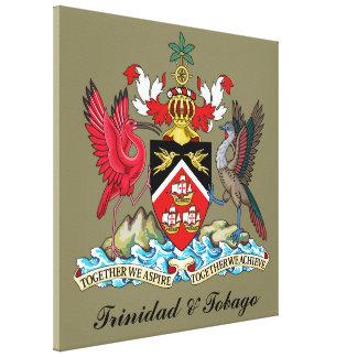 トリニダードトバゴの紋章付き外衣 キャンバスプリント