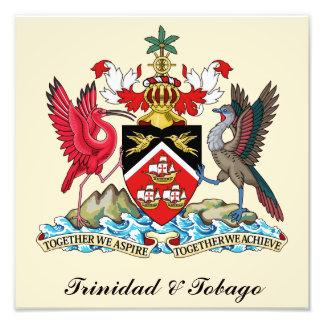 トリニダードトバゴの紋章付き外衣 フォトプリント