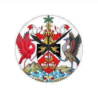 トリニダードトバゴの紋章付き外衣 ラウンド壁時計