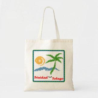 トリニダードトバゴ日曜日の海およびココヤシの木 トートバッグ
