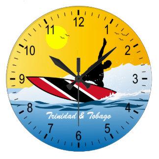 トリニダード及びトバゴのサーファー ラージ壁時計