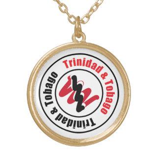 トリニダード及びトバゴのロゴのデザイン ゴールドプレートネックレス