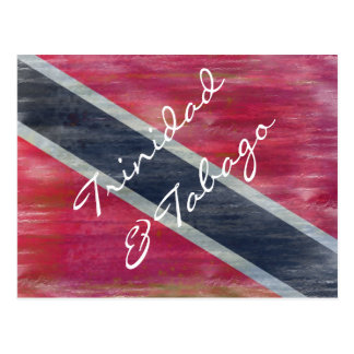 トリニダード及びトバゴの動揺してな旗 ポストカード