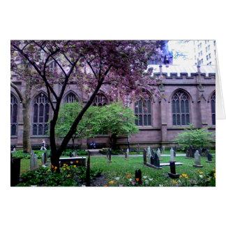 トリニティ教会、ブロードウェイ、NYC 2011年4月 カード