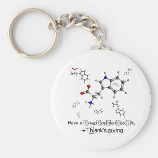 トリプトファンの分子 キーホルダー