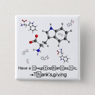 トリプトファンの分子 缶バッジ