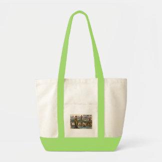 トリンギットのトーテムの村のヴィンテージの郵便はがき! トートバッグ
