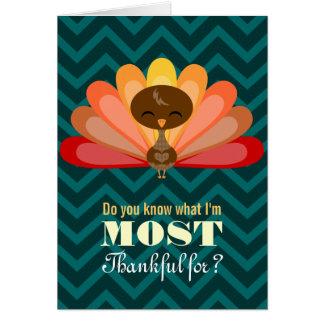 トルコのかわいこちゃん-ほとんどの感謝しているカスタムな挨拶状 カード