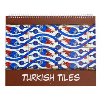 トルコのタイルの12か月 カレンダー