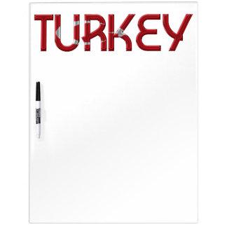 トルコのトルコの旗はタイポグラフィを着色します ホワイトボード