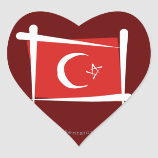 トルコのブラシの旗 ハートシール