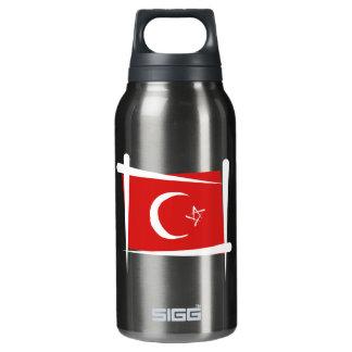 トルコのブラシの旗 断熱ウォーターボトル
