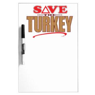 トルコの保存 ホワイトボード