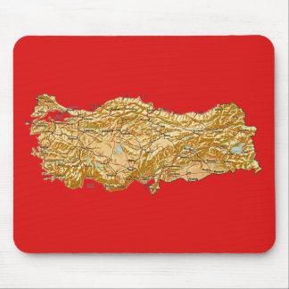 トルコの地図のマウスパッド マウスパッド