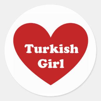 トルコの女の子 ラウンドシール