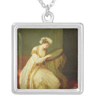 トルコの女性1773年 シルバープレートネックレス