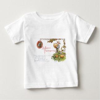 トルコの小さい男の子のカボチャパッチ ベビーTシャツ
