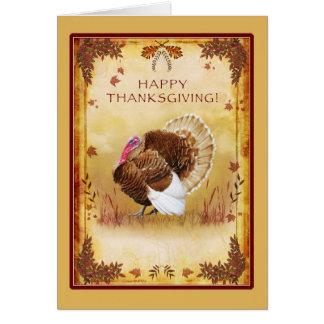 トルコの幸せな感謝祭の挨拶状 カード