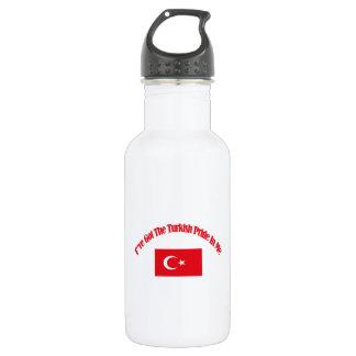 トルコの愛国心が強い旗のデザイン ウォーターボトル