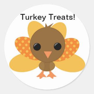 トルコの感謝祭の御馳走バッグのステッカー ラウンドシール