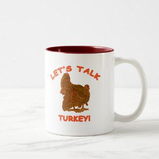 トルコの感謝祭の服装を話そう ツートーンマグカップ
