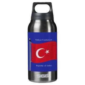 トルコの振る旗 断熱ウォーターボトル
