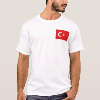 トルコの旗および地図のTシャツ Tシャツ