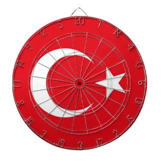 トルコの旗が付いているダート盤 ダーツボード