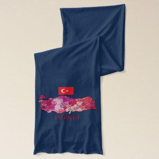 トルコの旗そして地図 スカーフ