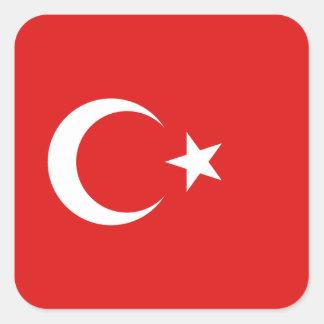 トルコの旗のステッカー スクエアシール
