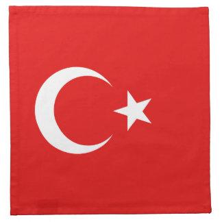 トルコの旗のナプキン ナプキンクロス