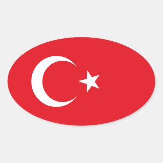 トルコの旗の楕円形のステッカー 楕円形シール