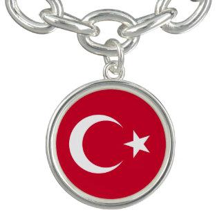 トルコの旗 チャームブレスレット