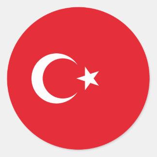 トルコの旗 ラウンドシール