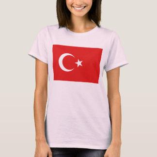 トルコの旗Xの地図のTシャツ Tシャツ