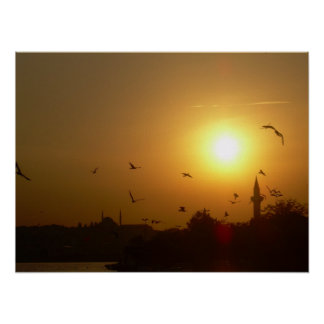 トルコの日没 ポスター