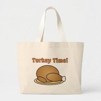 トルコの時間感謝祭のトートバック ラージトートバッグ