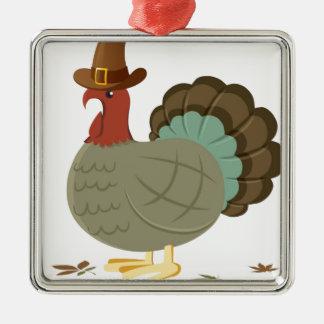 トルコの秋の葉の秋のドングリの感謝祭 メタルオーナメント