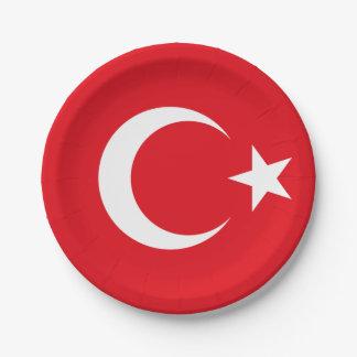 トルコの紙皿の旗 ペーパープレート