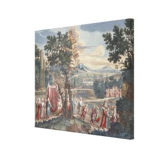 トルコの結婚の行列1712-13年 キャンバスプリント