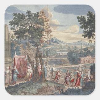 トルコの結婚の行列1712-13年 スクエアシール
