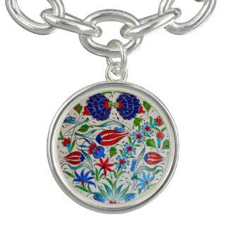トルコの花柄 チャームブレスレット