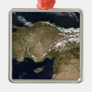 トルコの衛星眺め メタルオーナメント