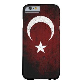 トルコの黒くグランジな旗 BARELY THERE iPhone 6 ケース