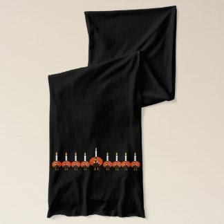 トルコの(ユダヤ教)メノラーのThanksgivukkahのスカーフ スカーフ